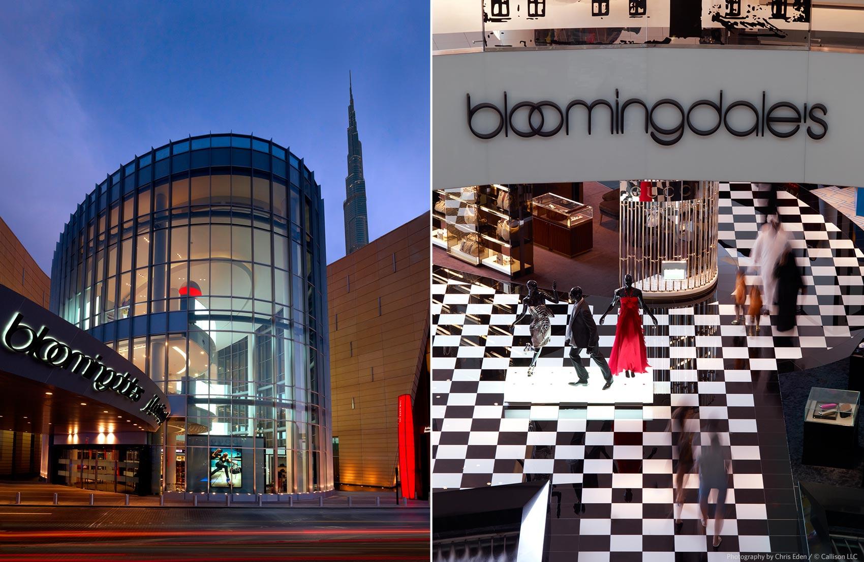 Bloomingdales - Dubai - Exterior and Mall interior key vantage points