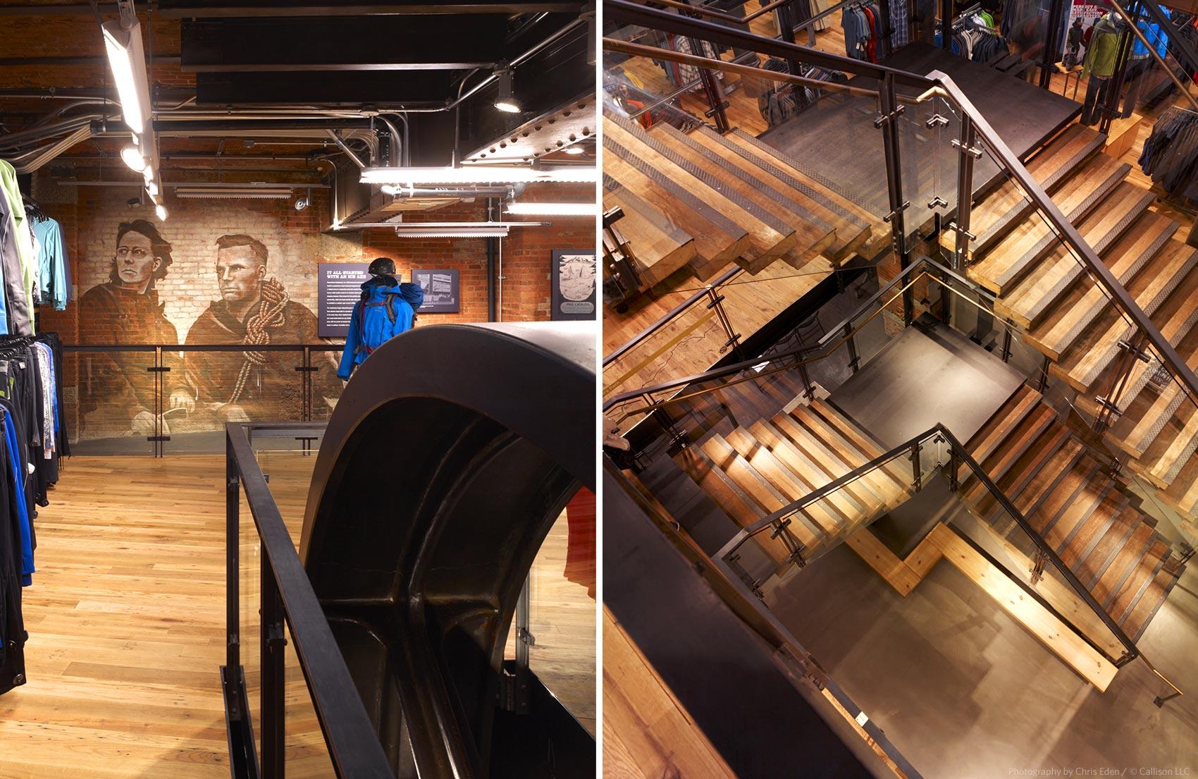 REI, Soho - NYC - Interior design element details