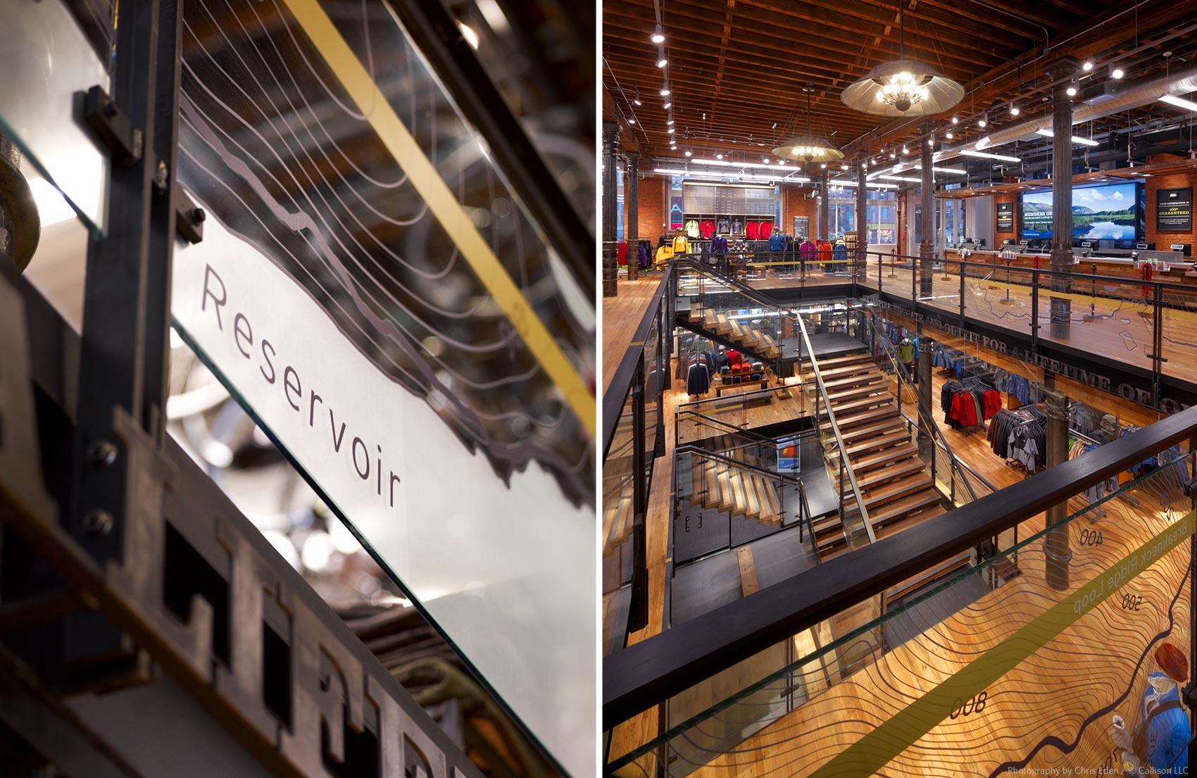 REI, Soho - NYC - Stairwell - detail design element