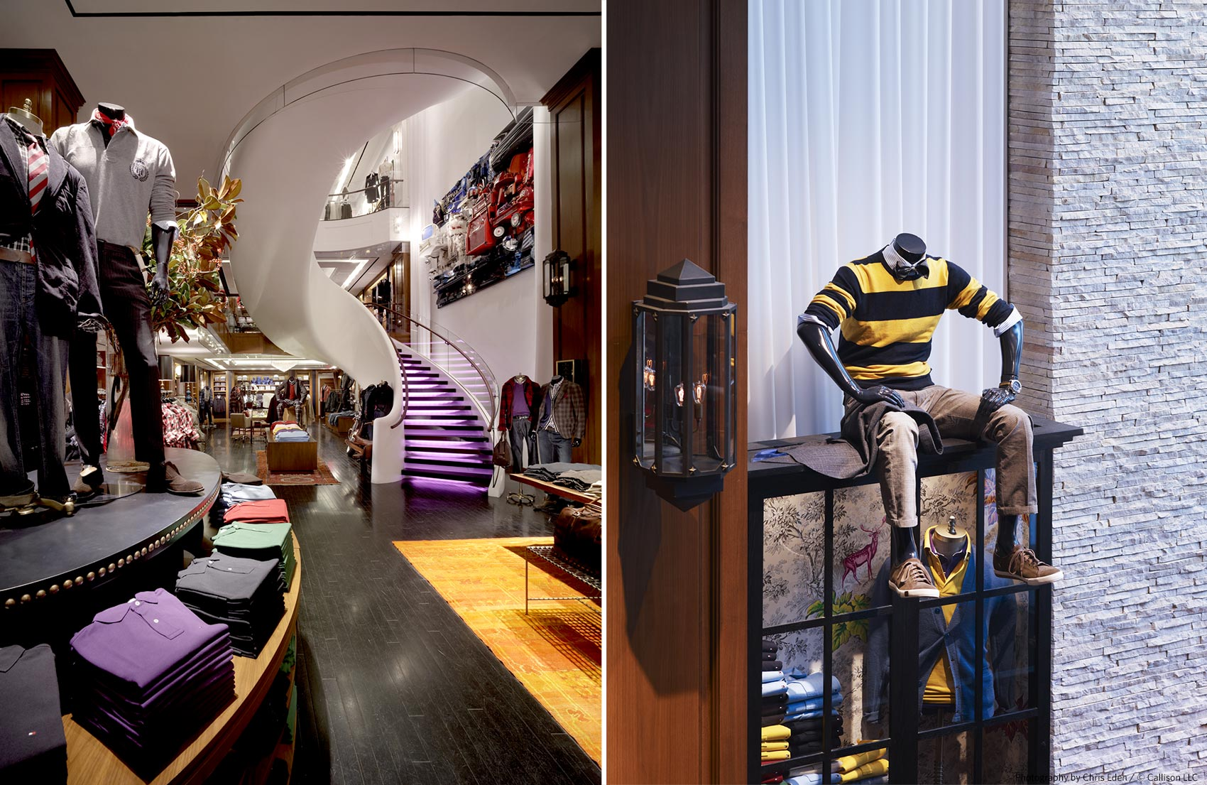 Tommy Hilfiger, Fifth Avenue, NYC - Interior detail