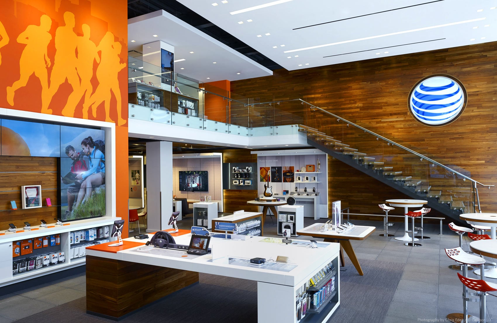 AT&T, Boston, Boylston Avenue Flagship - Interior overall - display