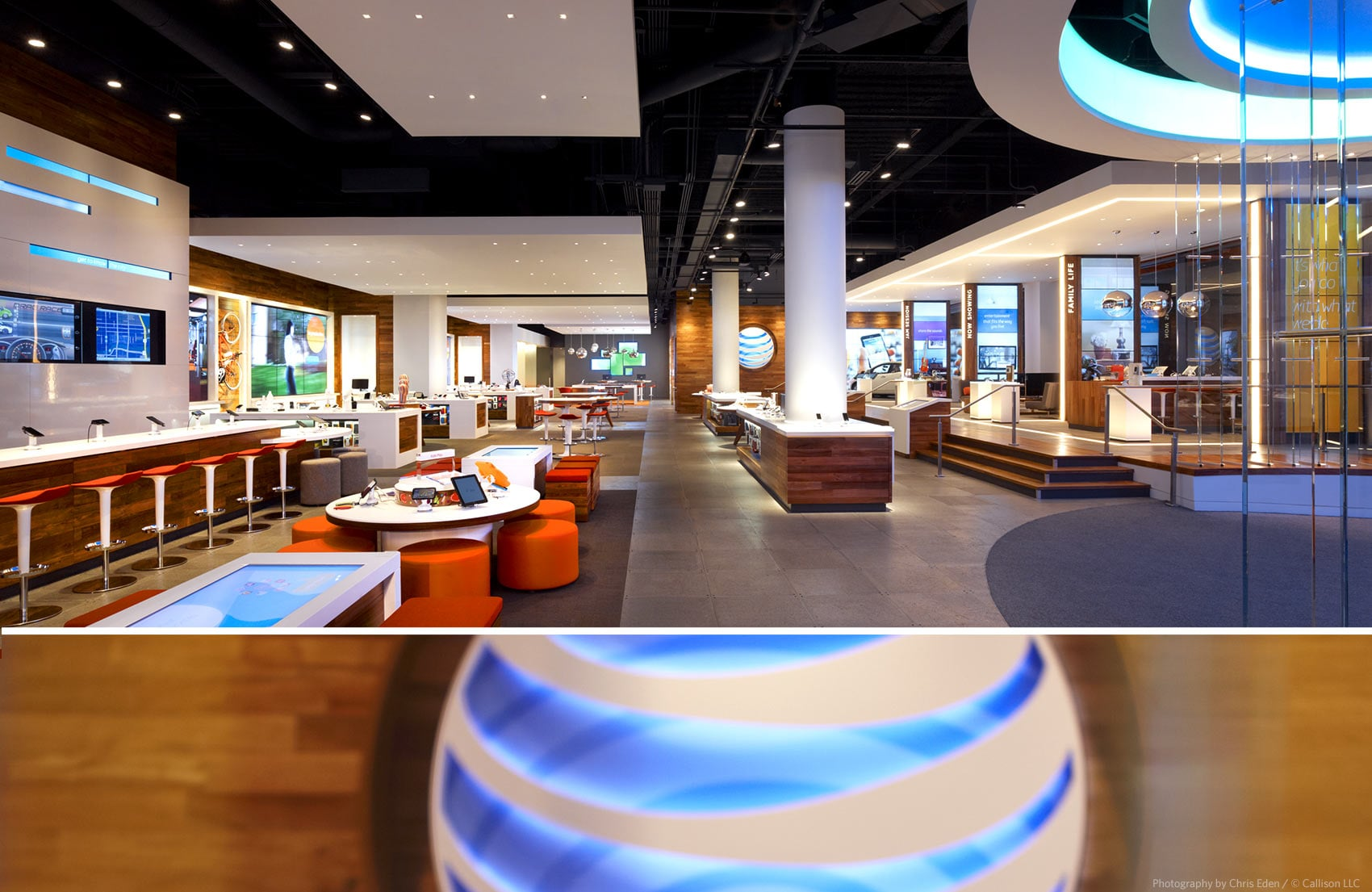 AT&T, Chicago, Michigan Avenue Flagship - Interior overall