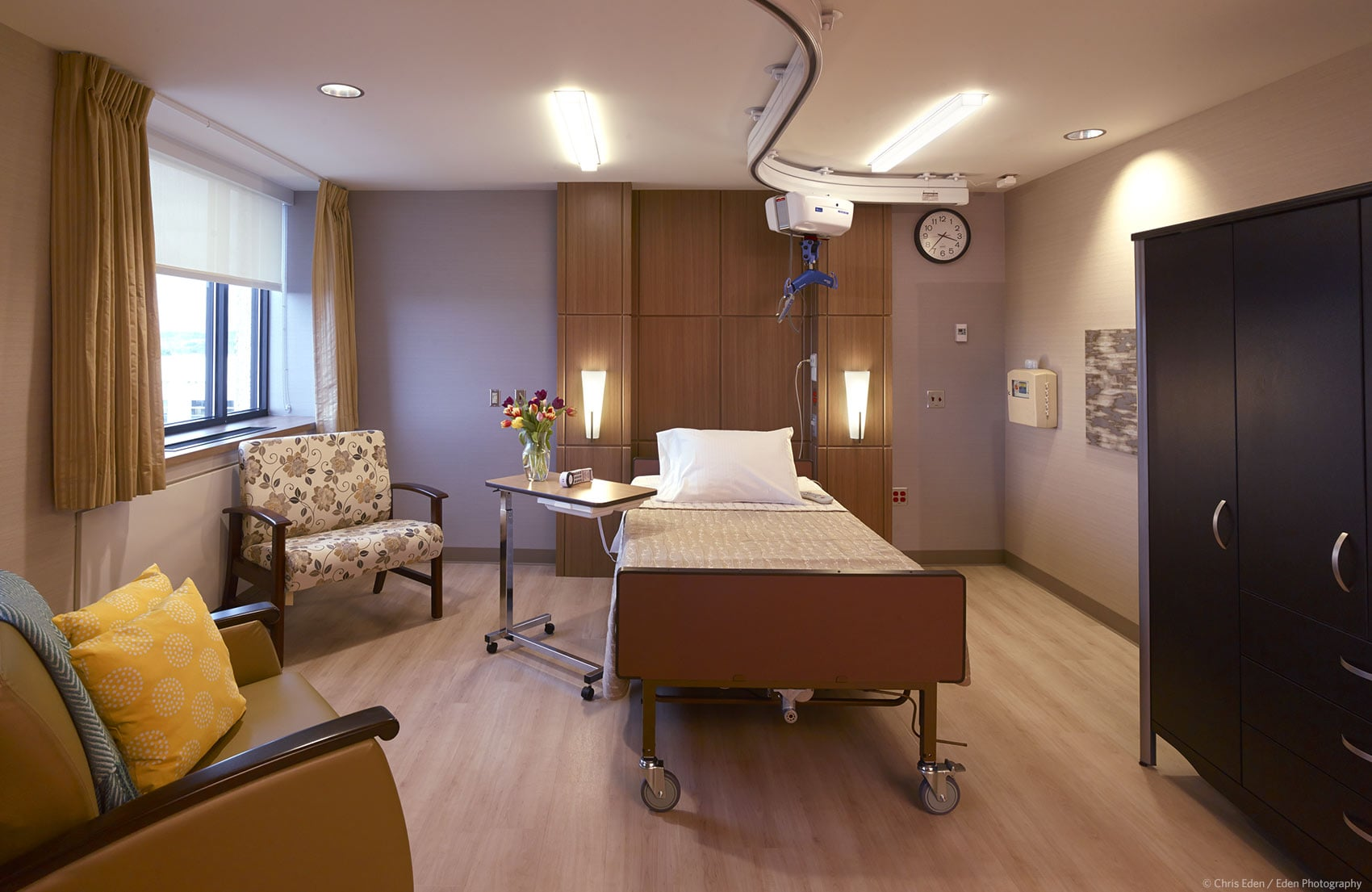 Client: MG2 - Providence Hospice - Patient room