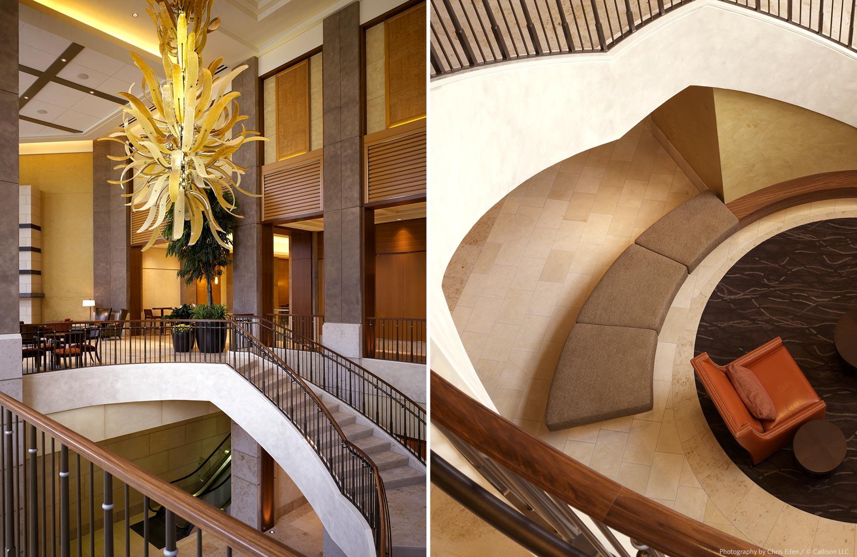 The Bravern, Bellevue, WA - Stair details - design elements