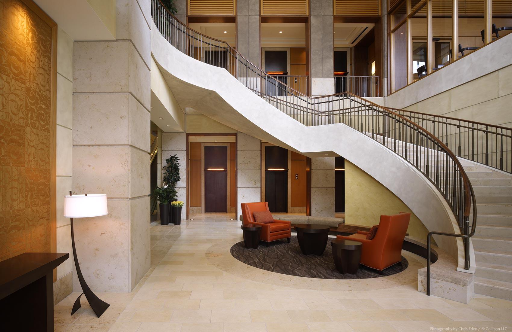 The Bravern, Bellevue, WA - Public lobby interior