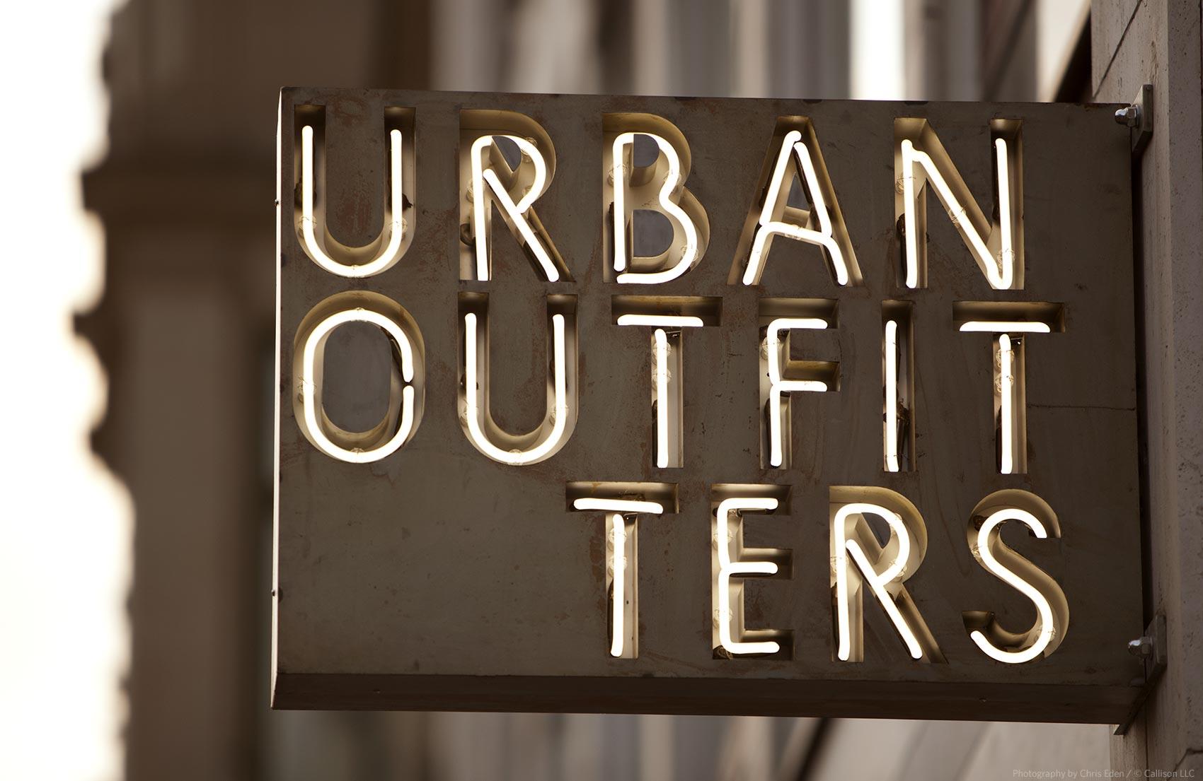 Urban Outfitters, Berlin -Kurfϋrstendamm - Signage detail -