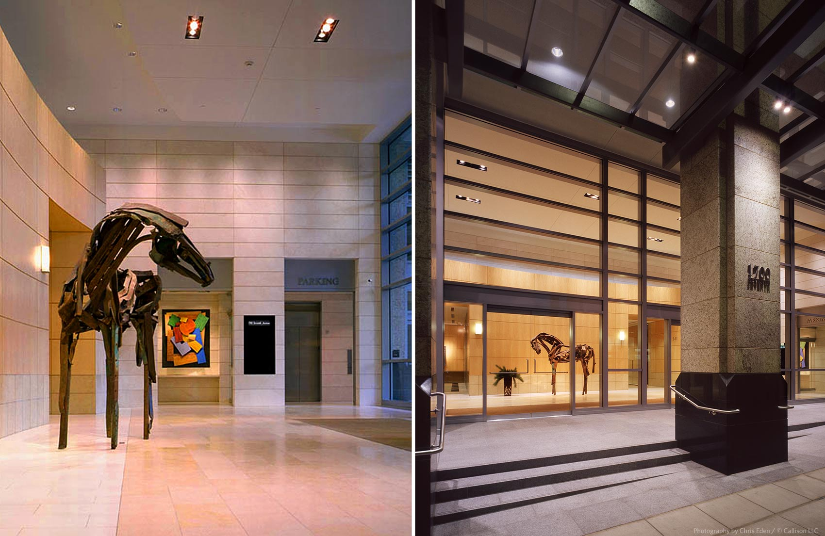 1700 7th Ave - Entrance lobby and art details