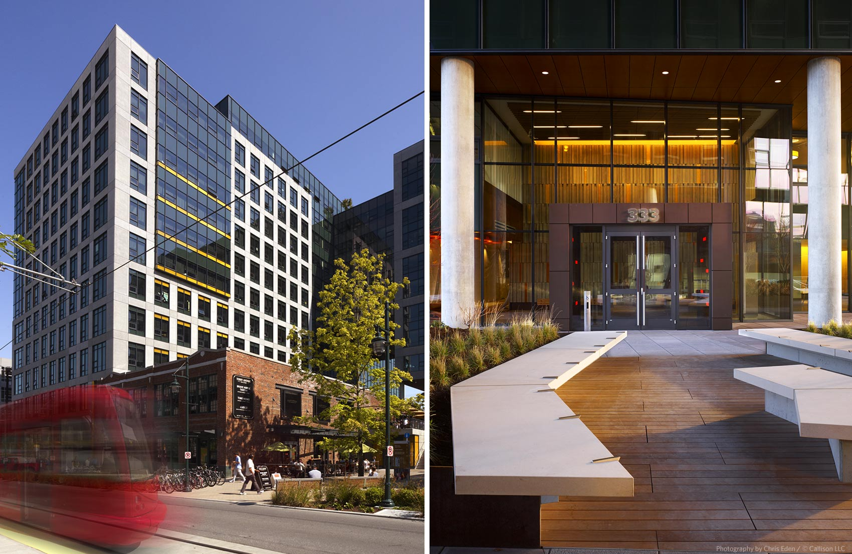 Amazon HQ - Building and entrance exteriors